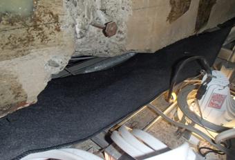 雨漏り滴下防止シート