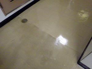 廊下の剥離清掃(1)